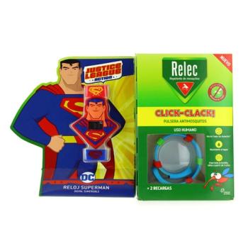 Relec pulsera antimosquitos REGALO Reloj Superman