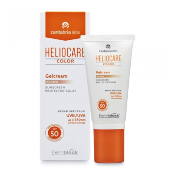 Heliocare Gelcream Spf50 50 ml, Protector Solar Color Brown.