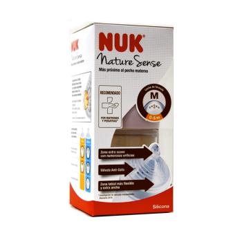 Biberón 150 ml Nature Sense PP-Silicona NUK, 1M de 0-6m.