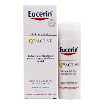 Eucerin Q10 50 ml, Crema Dia Ligera Piel Normal Mixta.