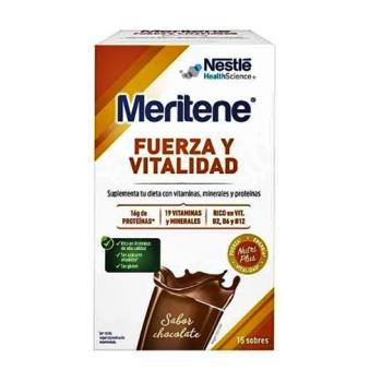 Meritene Fuerza y Vitalidad 15 sobres de 30gr, Sabor Chocolate.