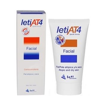 Leti AT4 Crema Facial 50 ml, Para Pieles Atópicas.