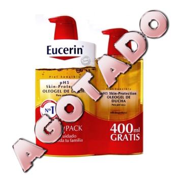 Eucerin Oleogel Ducha Family Pack, 1000 ml. + 400 ml.Gratis.