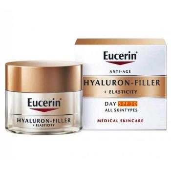 Eucerin Hyaluron-Filler + Elasticity Day 50 ml Spf30, Crema de Día Antienvejecimiento.