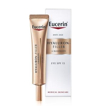 Eucerin Hyaluron-Filler + Elasticity Crema Contorno de Ojos Spf 15, 15 ml.