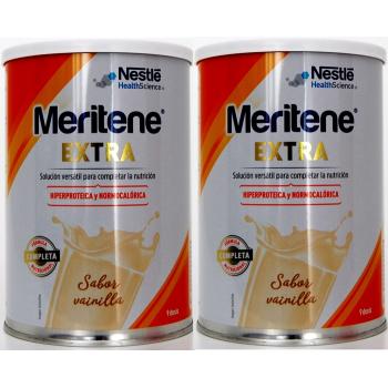 Meritene Extra 450 gr, Complemento Dietético Sabor Vainilla.- PACK 2 UN.