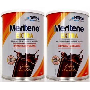 Meritene Extra 450 gr, Complemento Dietético Sabor Chocolate.- PACK 2U.