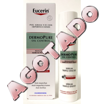 Eucerin DermoPure oil Control serum triple efecto reducción de marcas post-acné, 40 ml.