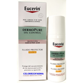 Eucerin DermoPure Oil Control reducción de marcas post-acné fluido protector.- 50 ml.