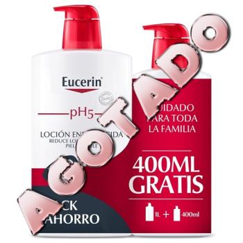 Eucerin Locion Enriquecida Family Pack, 1000 ml+400 ml. Gratis