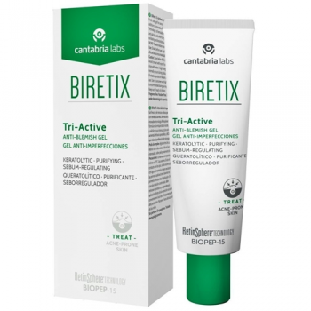 Biretix Tri-Active 50ml, Gel Anti-Imperfecciones de Cantabria Labs.