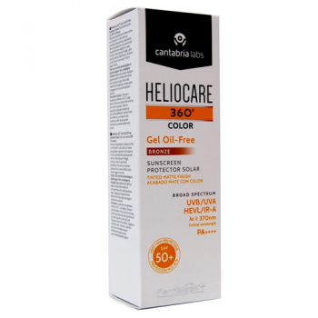 Heliocare 360º (Spf50+) 50 ml, Protector Solar Gel Oil-Free Color Bronze.