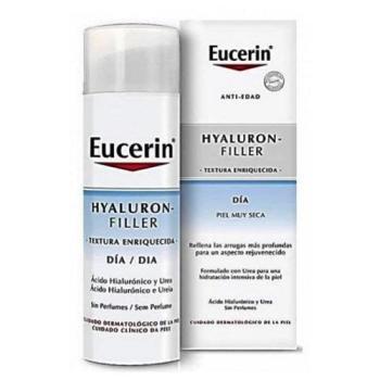 Eucerin Hyaluron Filler 50 ml, Crema de Día Textura Enriquecida.
